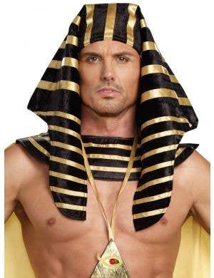 Men's Deluxe Egyptian Pharaoh Headpiece Costume Accessory