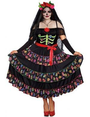 Women's Lady of the Dead Plus Size Costume - Front Image