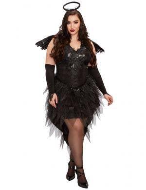 Women's Dark Angel Plus Size Halloween Costume Front Image