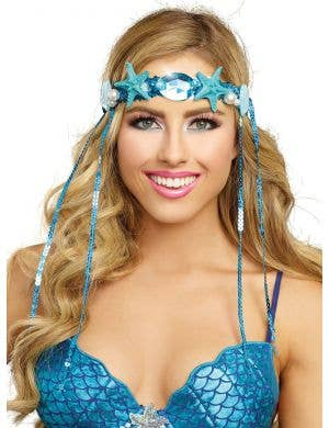 Blue Mythical Mermaid Headpiece Costume Accessory