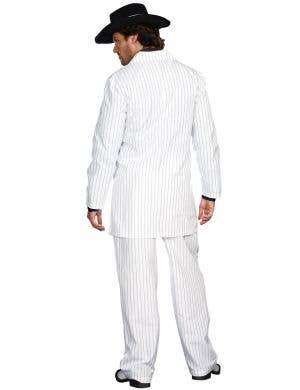 Zoot Suit Riot Men's Plus Size White 1940's Gangster Costume