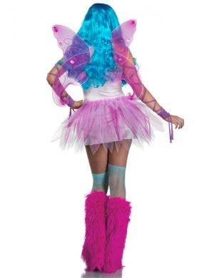Pretty Pink Fairy Women's Sexy Fancy Dress Costume
