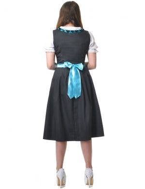 Traditional Black and Blue Dirndl Women's Oktoberfest Costume
