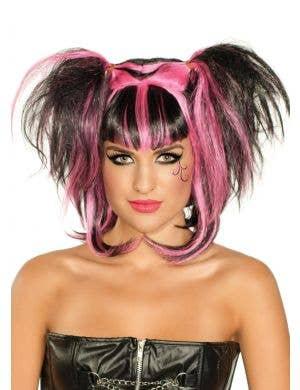 Dark Angel Black and Pink Halloween Wig