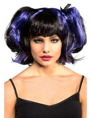 Women's Black And Purple Bad Fairy Halloween Costume Wig