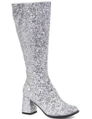Deluxe Silver Glitter Women's 1960's Go Go Boots