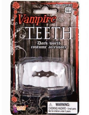 Vampire Halloween Costume Accessory White Fangs