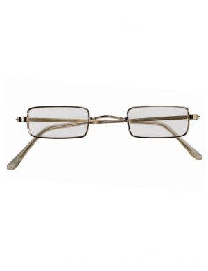 Santa Claus Gold Rimmed Square Costume Glasses