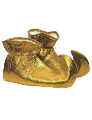 Gold Christmas Elf Shoes for Adults