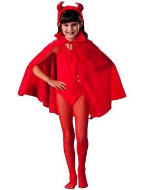 Kid's Red Budget Dress Up Cape Front View