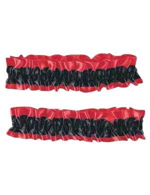 Red and Black Arm Band or Garters Costume Accessory
