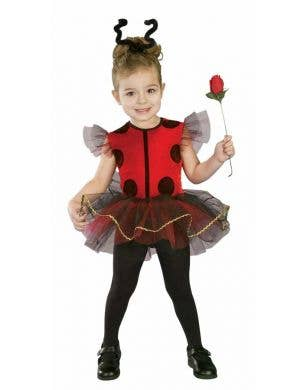 Girl's Toddler Red Lady Bug Tutu Fancy Dress Costume Front