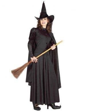Classic Women's Black Witch Halloween Dress Up Costume Main Image