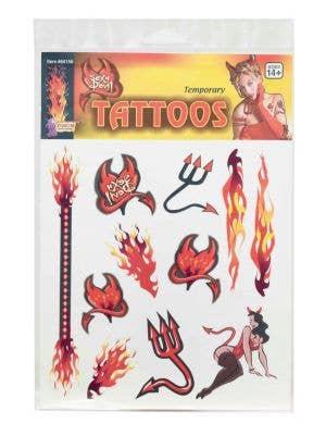 Sexy Devil Halloween Temporary Tattoos