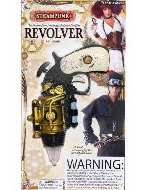 Steampunk Sci-Fi Novlety Gold Revolver Gun