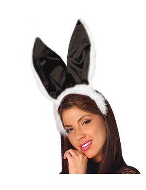 Bunny Ears and Tail Set - Black and White