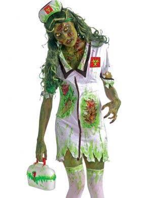 Biohazard Nurse Women's Halloween Zombie Costume