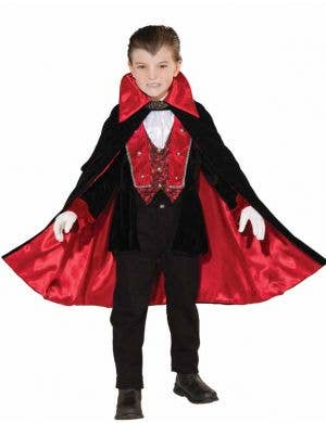Classic Boy's Vampire Dracula Costume Front View