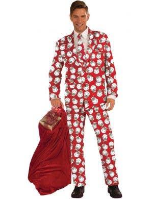 Santa Claus Print Men's Christmas Suit Costume
