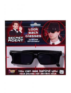 Secret Agent Black Costume Glasses