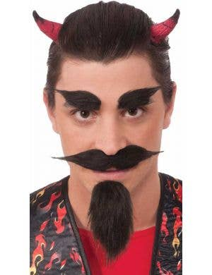 Devil Beard and Eyebrow Costume Accessory Set