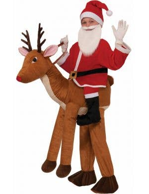Kids Christmas Reindeer Novelty Ride On Costume