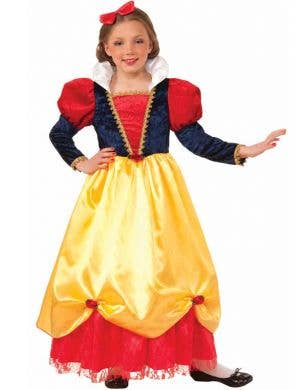Girl's Snow White Disney Princess Costume Front View