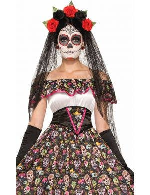 Day of the Dead Spanish Lady Long Women's Costume