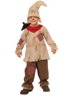 Boy's Scarecrow Wizard of Oz Book Week Costume Front View