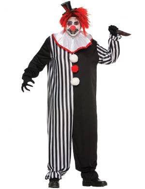 Freaky Evil Clown Men's Plus Size Halloween Costume