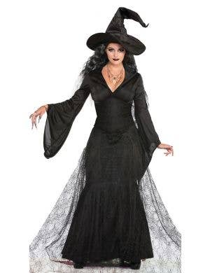 Black Mist Witch Women's Halloween Fancy Dress Costume