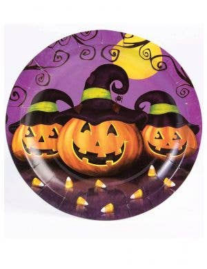 Halloween Pumpkins 18cm Small Paper Party Plates - 8 Pack
