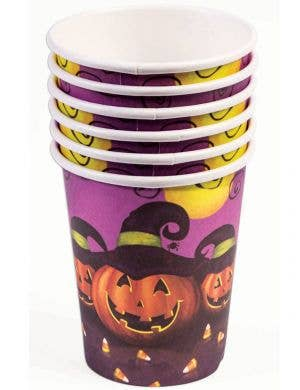 Halloween Pumpkins 8 Pack Paper Party Cups