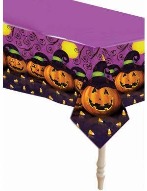 Halloween Pumpkins Plastic Table Cover Party Decoration