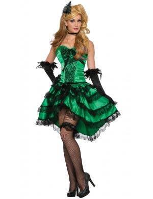 Emerald Saloon Girl Women's Burlesque Costume