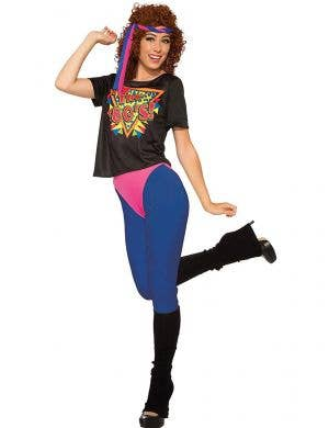 Womens 80s Workout Diva Costume