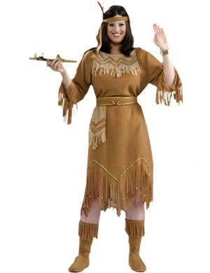Native American Maiden Plus Size Women's Indian Costume