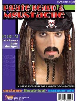 Human Hair Deluxe Pirate Beard Set