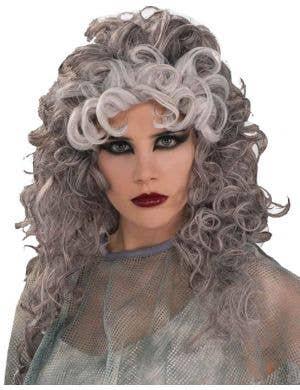 Ghostly Gal Women's Grey Halloween Wig