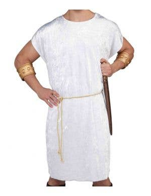 Basic Men's White Fancy Dress Costume Tunic