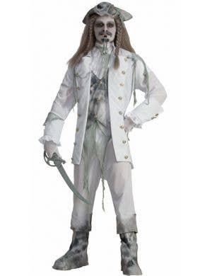 Men's Ghost Pirate Captain Halloween Costume Front
