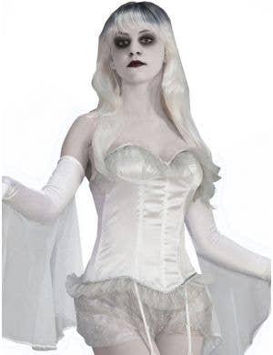 Ghostly Spirits White Corset Halloween Costume