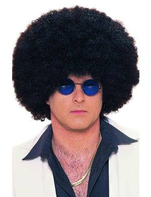 Frizzy Black Afro Costume Wig For Adults
