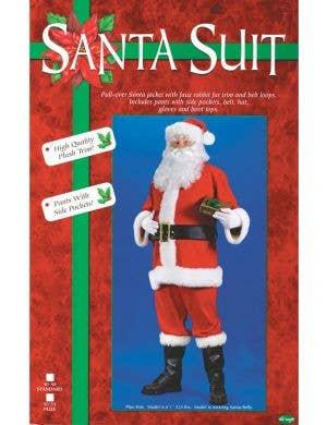 Jolly Father Christmas Plus Size Men's Santa Claus Costume