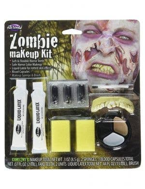 Adult Latex Decaying Zombie Mask Hair Halloween Fancy Dress Costume Accessory