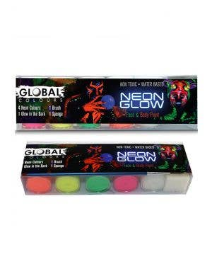 Neon Glow 5 Colour Face Paint Set
