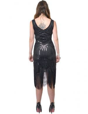 Dazzling Women's Deluxe Black 1920's Gatsby Plus Size Costume