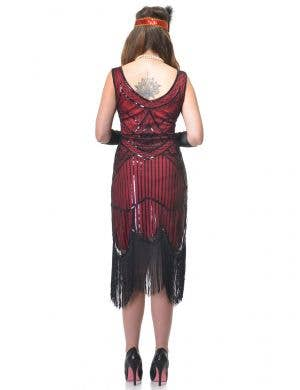 Charming 1920's Red and Black Women's Plus Size Gatsby Costume