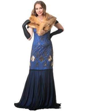 Hollywood Glam 1920's Faux Fur Wrap Costume Accessory Set