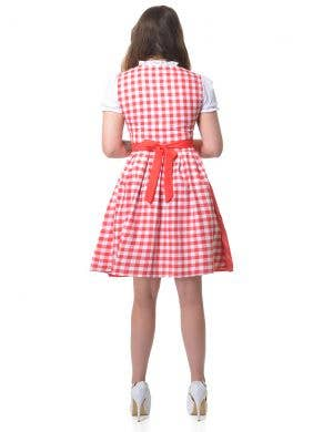 Classic Red and White Checkered Women's Oktoberfest Costume